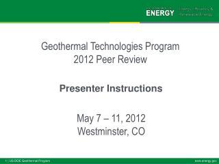Presenter Instructions