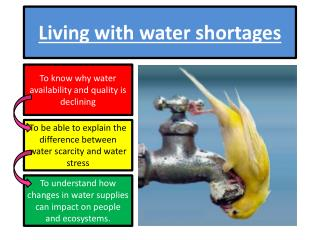 Living with water shortages