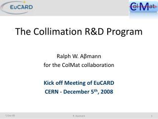 The Collimation R&D Program