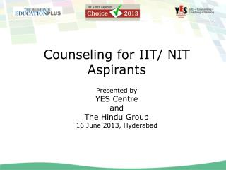 Counseling for IIT/ NIT Aspirants