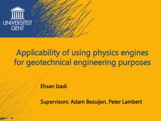 Applicability of using physics engines for geotechnical engineering purposes