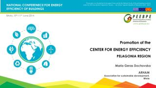 NATIONAL CONFERENECE FOR ENERGY EFFICIENCY OF BUILDINGS