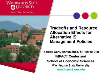 Tradeoffs and Resource Allocation Effects for Alternative IS Management Policies