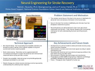 Neural Engineering for Stroke Recovery