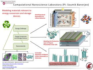 Computational Nanoscience Laboratory  ( PI: Soumik Banerjee )