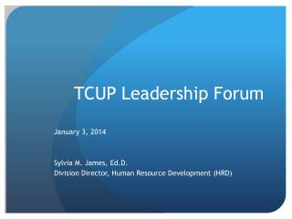 TCUP Leadership Forum