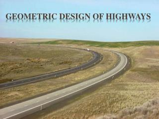 geometric design of Highways