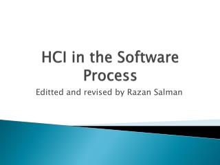 HCI in the Software Process