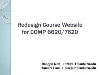 Redesign  Course Website  for  COMP  6620/7620