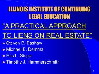 ILLINOIS INSTITUTE OF CONTINUING LEGAL EDUCATION