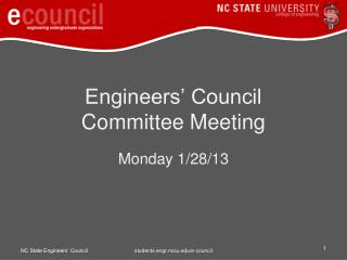 Engineers' Council  Committee Meeting