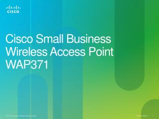 Cisco  Small Business Wireless Access Point WAP371