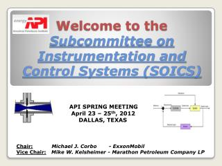 Welcome to the  Subcommittee on Instrumentation and Control Systems (SOICS)