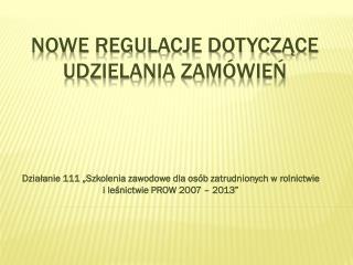 Nowe regulacje dotyczące udzielania zamówień