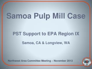 Samoa Pulp Mill Case