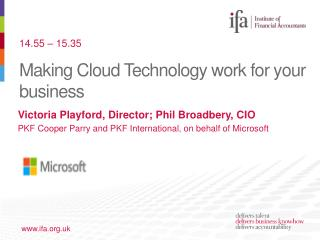 Making Cloud Technology work for your business