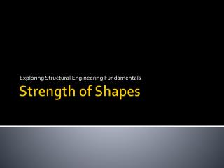 Strength of Shapes