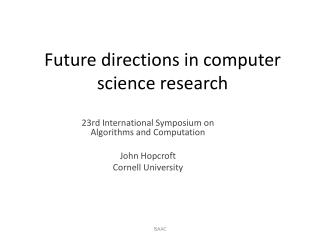 Future directions in computer science research