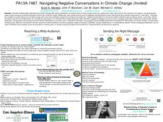 PA13A-1987. Navigating Negative Conversations in Climate Change  (Invited)