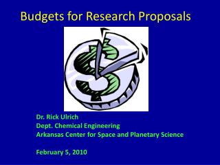 Budgets for Research Proposals
