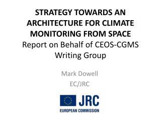 Mark Dowell EC/JRC