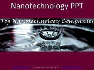 Nanotechnology PPT Nanosustentable