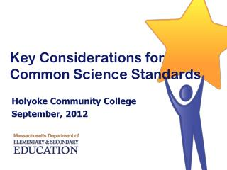 Key Considerations for Common Science Standards