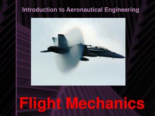 Flight Mechanics