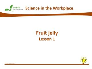 Fruit jelly  Lesson 1