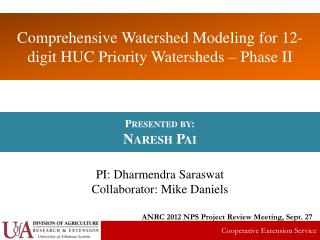 Comprehensive Watershed Modeling for 12-digit HUC Priority Watersheds – Phase II