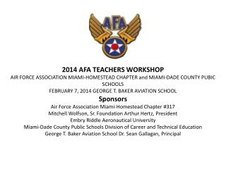 2014 AFA TEACHERS WORKSHOP