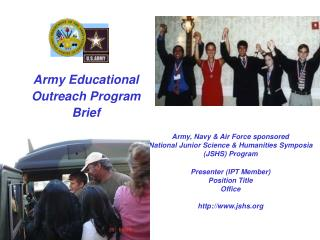 Army Educational  Outreach Program Brief