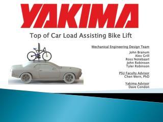 Top of Car Load Assisting Bike Lift