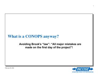 What is a CONOPS anyway