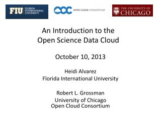 An Introduction to the  Open Science Data Cloud