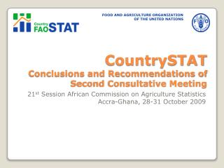 CountrySTAT Conclusions and Recommendations of Second Consultative Meeting