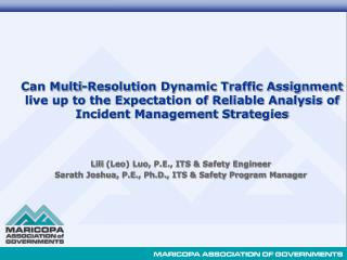 Lili  (Leo) Luo, P.E., ITS & Safety Engineer