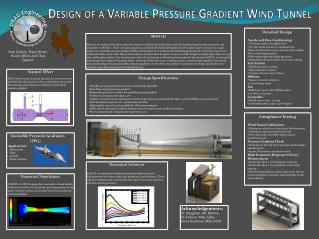 Design of a Variable Pressure Gradient Wind Tunnel