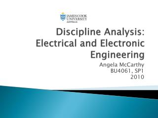 Discipline Analysis: Electrical and Electronic Engineering