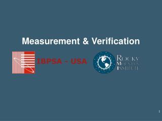 Measurement & Verification