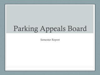 Parking Appeals Board