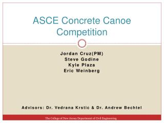 ASCE Concrete Canoe Competition