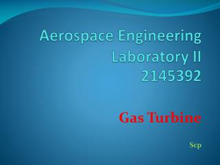 Aerospace Engineering Laboratory II 2145392