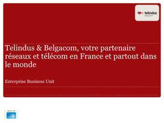 Telindus  Belgacom, votre partenaire r seaux et t l com en France et partout dans le monde