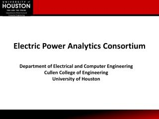 Electric Power Analytics Consortium