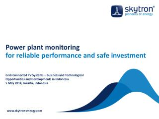 Power plant monitoring  for reliable performance and safe investment