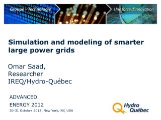 Simulation and modeling of smarter large power grids