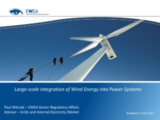 Large-scale Integration of Wind Energy into Power Systems