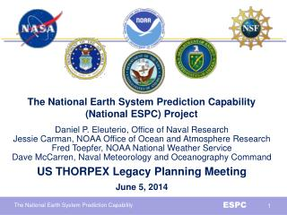 The National Earth System Prediction Capability (National ESPC) Project