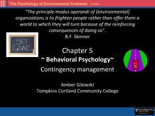 ~ Behavioral Psychology~